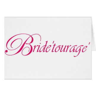 bride'tourage' line by en vogue events card