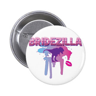 bridezilla bachelorette wedding bridal shower 6 cm round badge