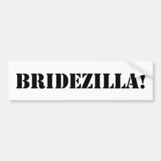 Bridezilla black bumper sticker