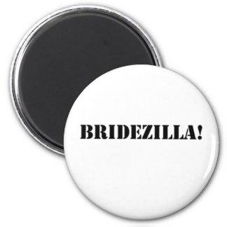 Bridezilla black refrigerator magnets