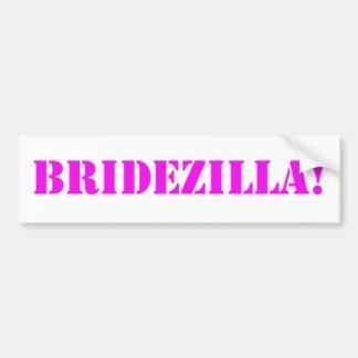 Bridezilla pink bumper stickers
