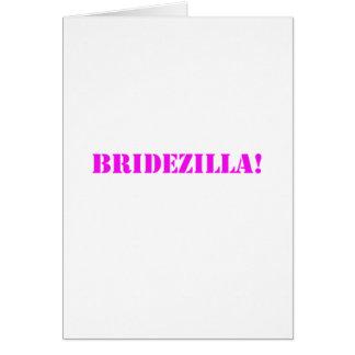 Bridezilla pink greeting cards