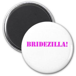 Bridezilla pink refrigerator magnet