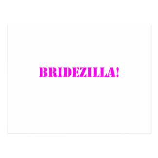 Bridezilla pink postcard