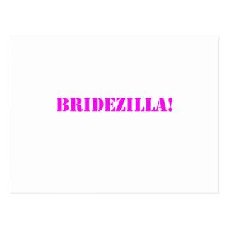 Bridezilla pink postcards
