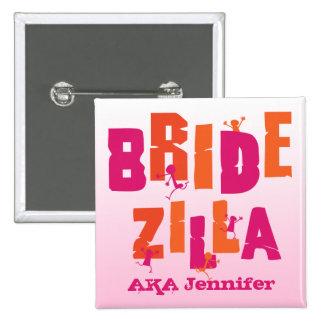 Bridezilla (S) 15 Cm Square Badge