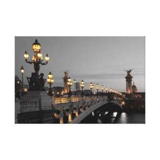 Bridge Alexander III, Paris Canvas Print