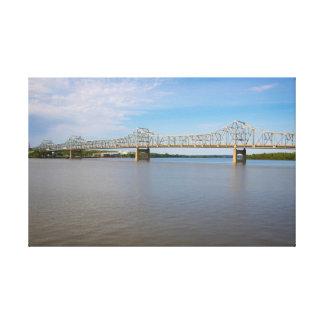 Bridge and River Canvas Print
