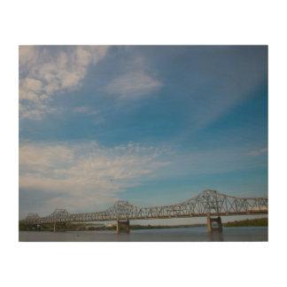 Bridge and River Skyline Wooden Wall Art