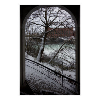 BRIDGE ARCH FRAMED SPOKANE FALLS POSTER