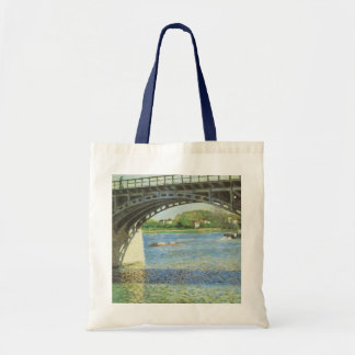 Bridge at Argenteuil by Gustave Caillebotte Budget Tote Bag