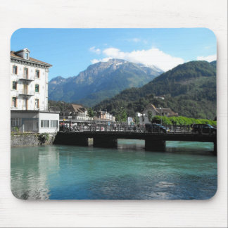 Bridge at Interlaken in Switzerland Mouse Pad