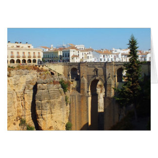 Bridge at Ronda in Spain Greeting Cards