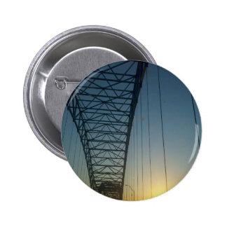 Bridge at Sunset 6 Cm Round Badge