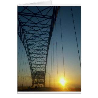Bridge at Sunset Greeting Card