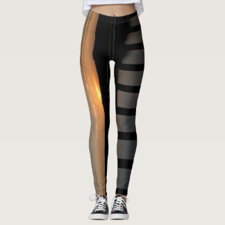 Bridge at sunset graphic leggings