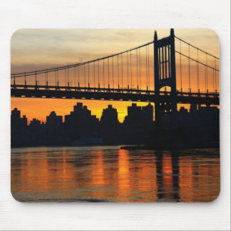 Bridge at sunset mouse pads