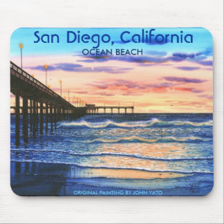 BRIDGE AT SUNSET-T, San Diego, California, ORIG... Mouse Pad