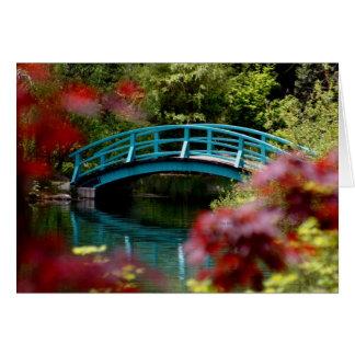 Bridge Big Springs Gardens Greeting Card