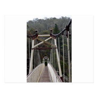BRIDGE CATARACT GORGE LAUNCESTON TASMANIA POSTCARD