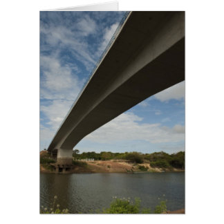 Bridge connecting Guyana to Brazil over Takutu Greeting Cards