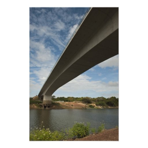 Bridge connecting Guyana to Brazil over Takutu Photograph