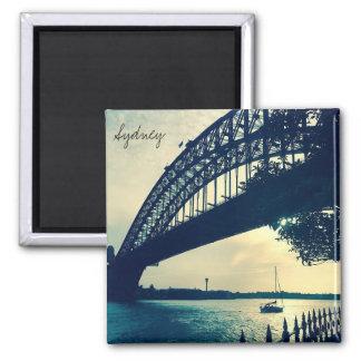 bridge dusk sydney square magnet