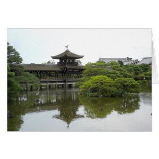 Bridge, Heian Jingu Temple Garden, Kyoto Japan Card