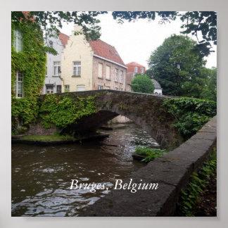 Bridge in Bruges Poster