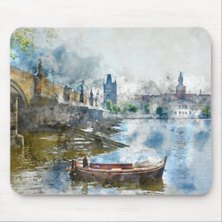 Bridge in Prague, Czech Republic Mouse Pad