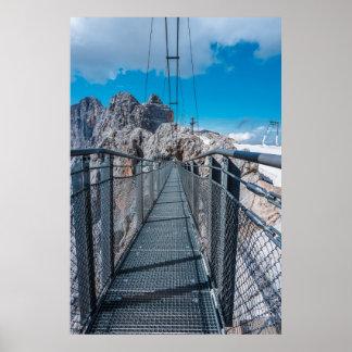 Bridge in the alps poster