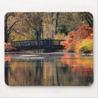 Bridge in the Fall Mouse Pad