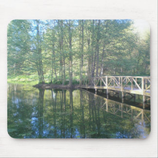 Bridge in the Meadow Mouse Pad