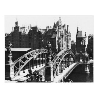 Bridge in the Speicherstadt  Hamburg, c.1910 Postcard