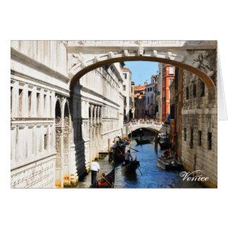 Bridge in Venice, Italy Card