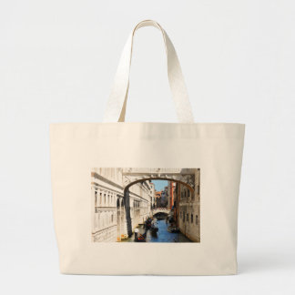 Bridge in Venice, Italy Large Tote Bag