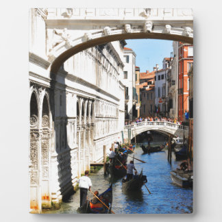 Bridge in Venice, Italy Plaque
