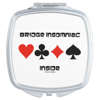 Bridge Insomniac Inside Four Card Suits Humor Makeup Mirrors