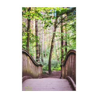 Bridge into the Forest. Canvas Print