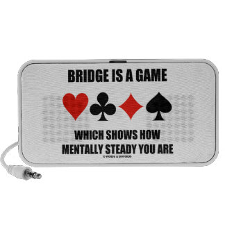 Bridge Is A Game Which Shows How Mentally Steady Speakers