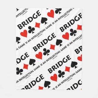 Bridge Is An Intellectual Game Four Card Suits Fleece Blanket