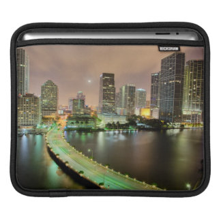 Bridge leads across waterway to downtown Miami iPad Sleeve
