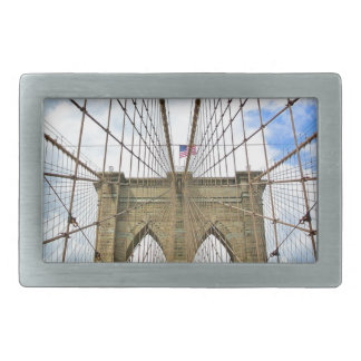 Bridge New York Brooklyn City Building Structure Rectangular Belt Buckles