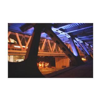Bridge Night in the city Canvas Print