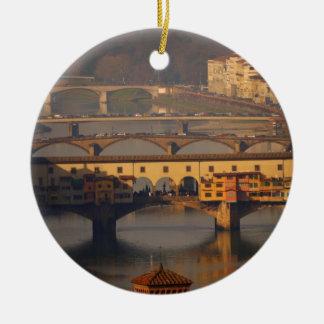 Bridge of Florence, Italy Ceramic Ornament