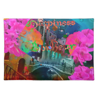 Bridge of happiness placemats