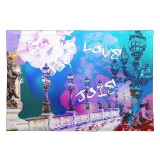 Bridge of joy and love placemat