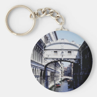 Bridge of Sighs, Veneto, Venice, Italy Basic Round Button Key Ring