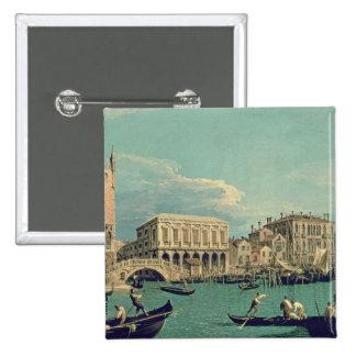 Bridge of Sighs, Venice  c.1740 15 Cm Square Badge