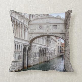 Bridge Of Sighs Venice Italy Cushion